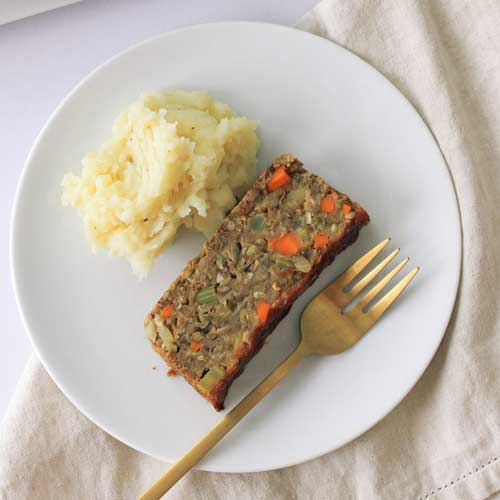 Apple, Fennel + Sage Lentil Loaf