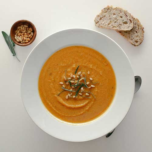 Butternut Squash + Red Lentil Soup