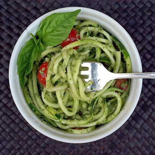Creamy Zucchini Pesto with 'Noodles'