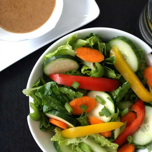 Simple Salad + Almond-Lime Dressing