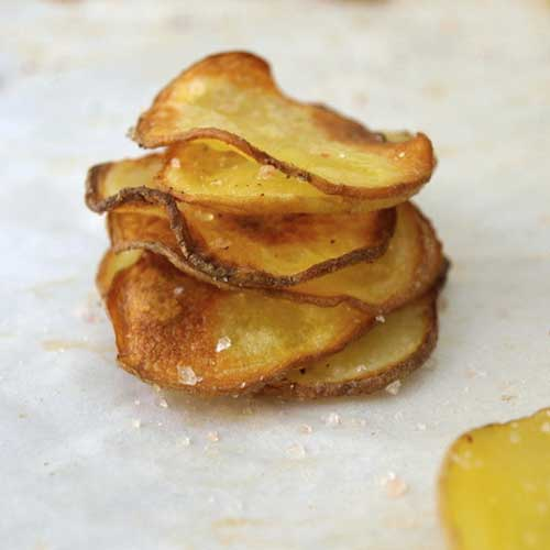 Rustic Baked Potato Chips